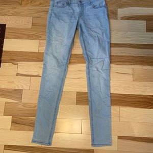 Another pair of light washed jeans